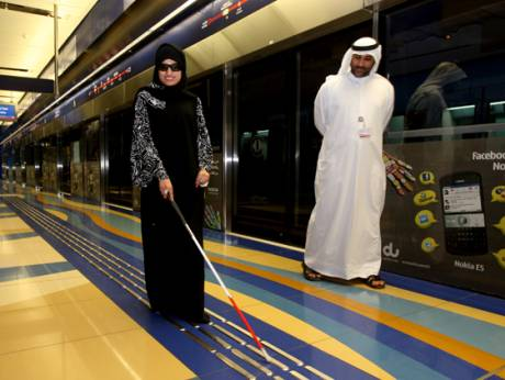 Special needs passengers on Dubai Metro