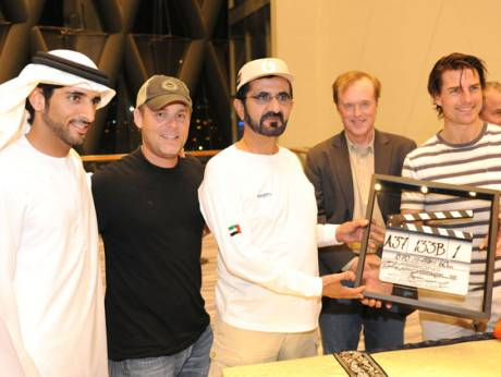 Shaikh Mohammad with Tom Cruise