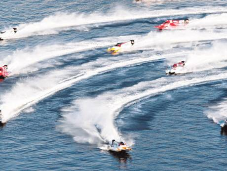 Formula One powerboats making waves at the Khalid Lagoon in Sharjah