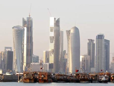 A skyline of Doha, Qatar