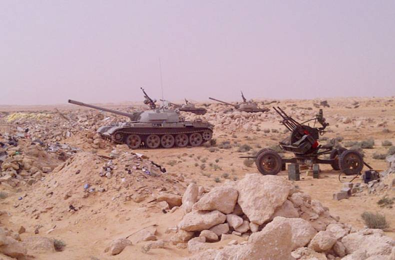 tanks-anti-aircraft-guns-and-missiles-are-stationed-at-the-outskirts-of-the-central-libyan-city