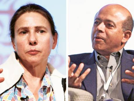 Lionel Shriver and Abraham Verghese
