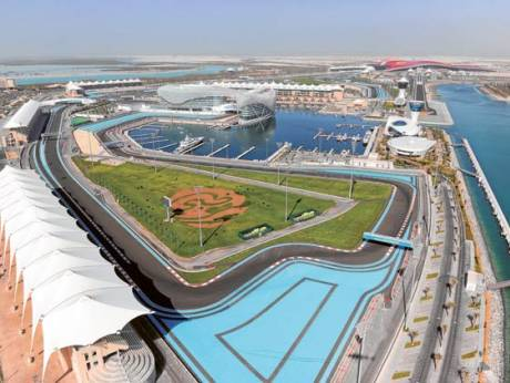 A panoramic view of Yas Island