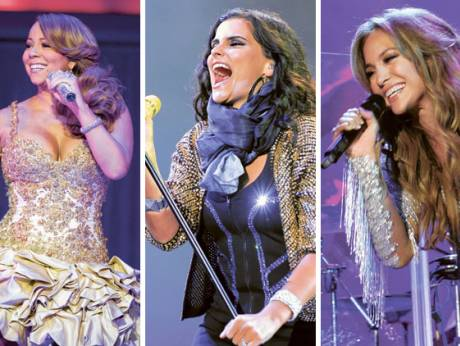 Mariah Carey, Nelly Furtado and Jennifer Lopez