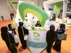 Guests elicit information from the officials at the etisalat stand