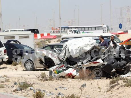 Crashes between Samha and Ghantoot
