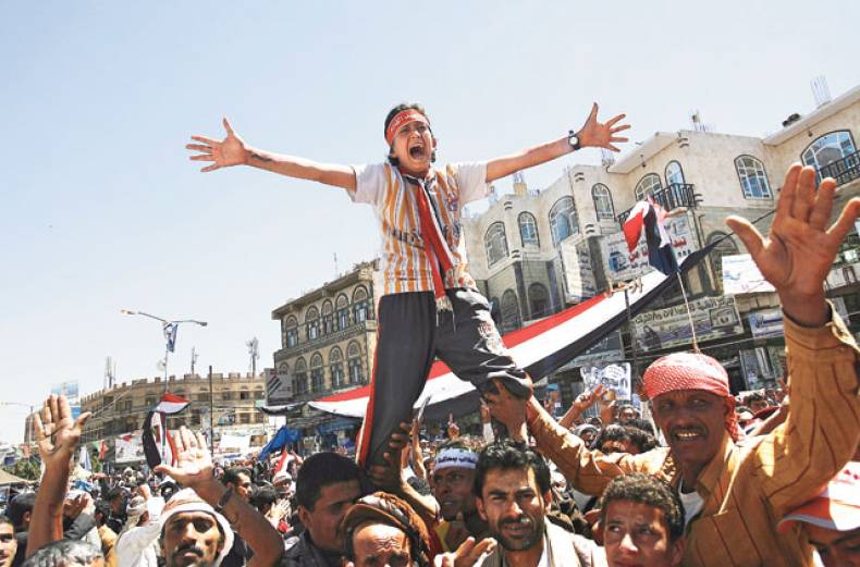 protesters-demand-the-ouster-of-yemeni-president-saleh