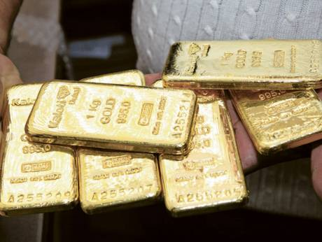 Gold bars in the Dubai Gold Souq