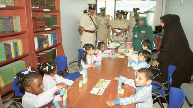 Major General Khamis Mattar Al Mazeina, Deputy Chief of Dubai Police, and other police officials