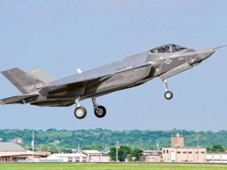 A US Air Force version of the F-35 Lightning II takes off from the Fort Worth Joint Reserve Base