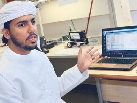 Sultan Ahmad Sultan Al Sharif has developed a virtual mouse as part of his final year project