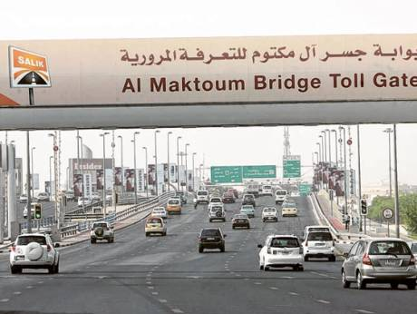 Morning traffic on Al Maktoum Bridge