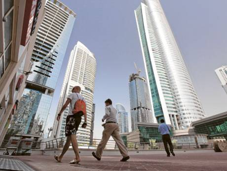The Jumeirah Lakes Towers complex of mixed residential and office towers