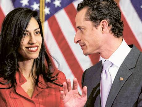 US congressman Anthony Weiner and his wife, Huma Abedin