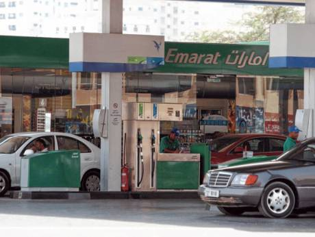 An Emarat fuel station in Sharjah