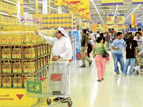 Shoppers at a supermarket in the UAE