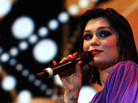Jessie J performs during the Dubai World Cup 2011