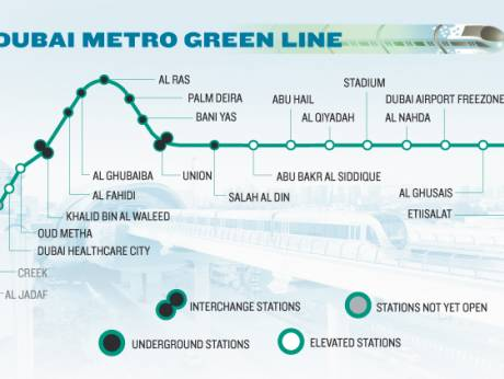 During peak hours, 14 trains will run at six- to eight-minute intervals through the Green Line