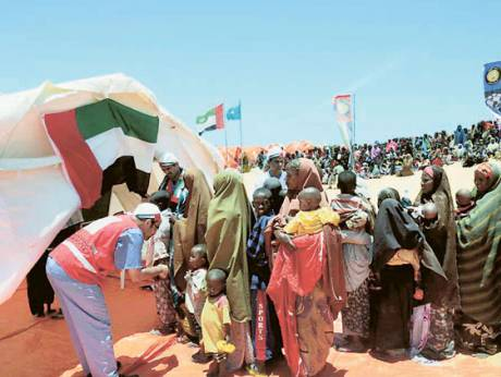 The UAE has provided food supplies to alleviate the suffering of the Somali people