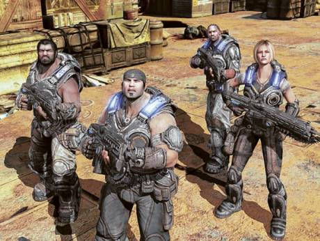 Fans tried out Gears of War 3 at Carrefour in Deira City Centre