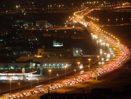 Traffic between Al Barsha and Tecom area in Dubai