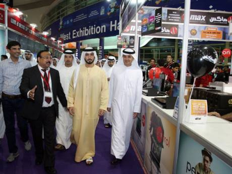 Shaikh Majid Bin Mohammed Bin Rashid Al Maktoum at the GITEX Shopper