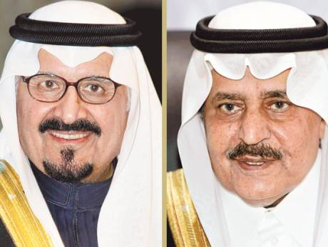 Prince Sultan (left) and Prince Nayef