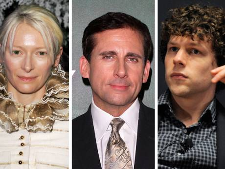 Tilda Swinton, Steve Carell and Jesse Eisenberg