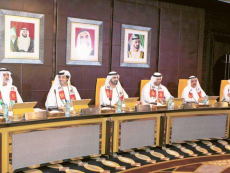 Shaikh Mohammad chairs the Cabinet meeting which passed the draft UAE Companies Law