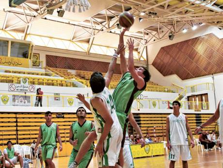 Action from the match between Dubai International School and Jumeirah College