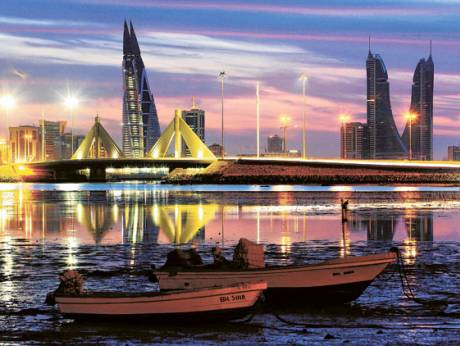 Skyline of the Manama Corniche