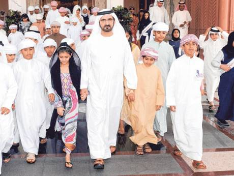 Shaikh Mohammad answers questions received from local and regional newspapers
