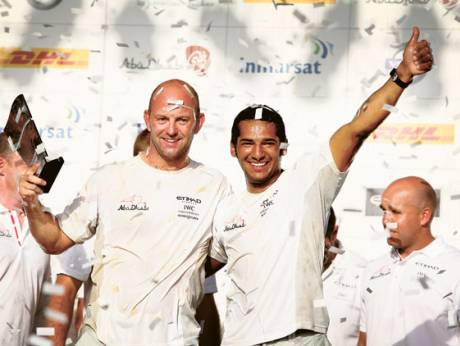 Abu Dhabi Ocean Racing team celebrate