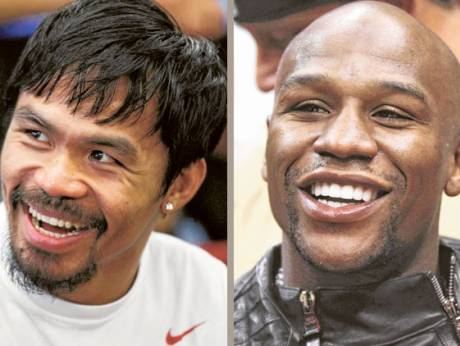 Manny Pacquiao and Floyd Mayweather Junior
