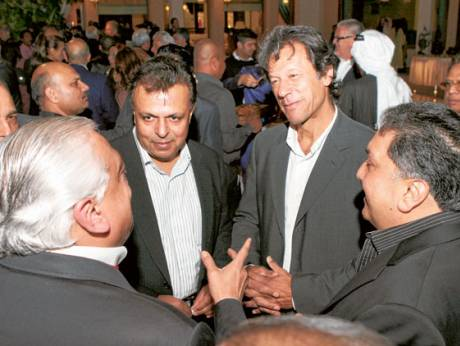 Imran Khan with the host Imran Chaudhry and others guests