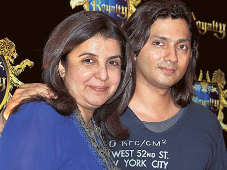 Farah Khan with husband Shirish Kunder.