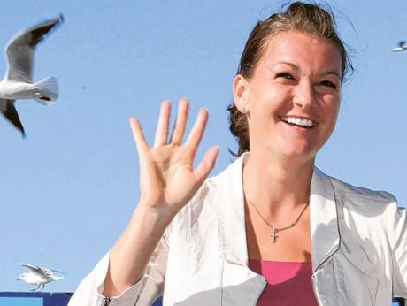Besides the tennis, Agnieszka Radwanska also enjoys posing for the camera