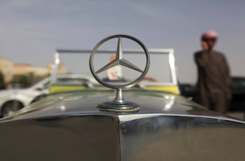 a-vintage-mercedes-benz-on-display