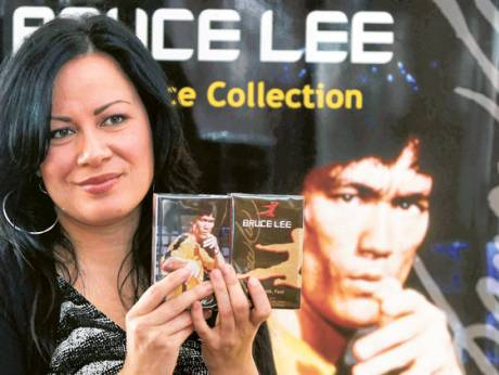 Shannon Lee, daughter of Bruce Lee and CEO of Bruce Lee Enterprises, during the launch