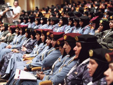 Participants at the First Women Police Conference 2012 in Abu Dhabi