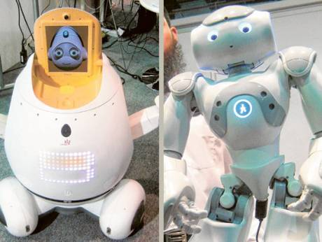 Engkey (left) and NAO (right) could be the future of teaching