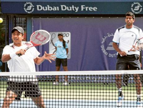 Mahesh Bhupathi with Rohan Bopanna