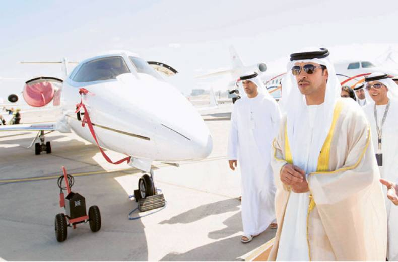 shaikh-hazza-bin-zayed-al-nahyan-inaugurated-the-abu-dhabi-air-expo-at-al-bateen-executive-airport