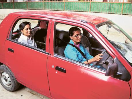 By boldly choosing to become taxi drivers, some women in New Delhi have transformed their lives