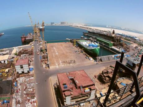 The Dubai Drydocks, the shipbuilding unit of Dubai World